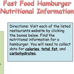 Fast Food Hamburger Nutritional Information