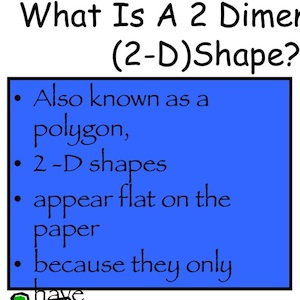 I spy 2-Dimensional Shapes