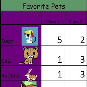 Pet Survey Excel Example