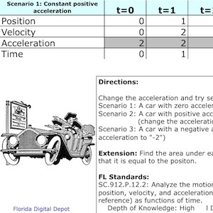 Position, Velocity, and Acceleration Simulator