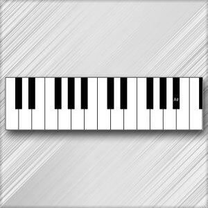 Grand Piano A# (B Flat) - 4th Octave