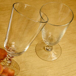Two Glasses Clinking Together