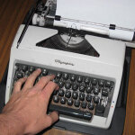 Typing one line on typewriter