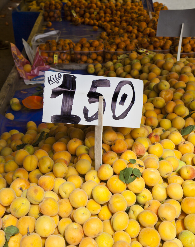 150 Turkish Liras for 1 Kilogram of Peaches