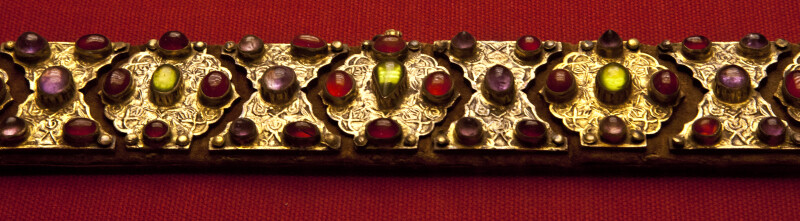 16th-17th Century Belt Studded with Colorful Stones