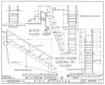 1934 Survey of Fort Matanzas, Details of Exterior Wooden Stairs, No. 15-5, US Department of  the Interior, Office of National Parks,  Sheet 10 of 12.