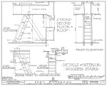 1934 Survey of Fort Matanzas, Details of Interior Wooden Stairs, No. 15-5, US Department of  the Interior, Office of National Parks,  Sheet 11 of 12.