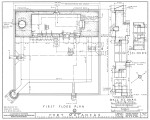 1934 Survey of Fort Matanzas, First Floor Plan, No. 15-5, US Department of  the Interior, Office of National Parks,  Sheet 2 of 12