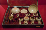 19th Century Tophane Writing Set and Cup