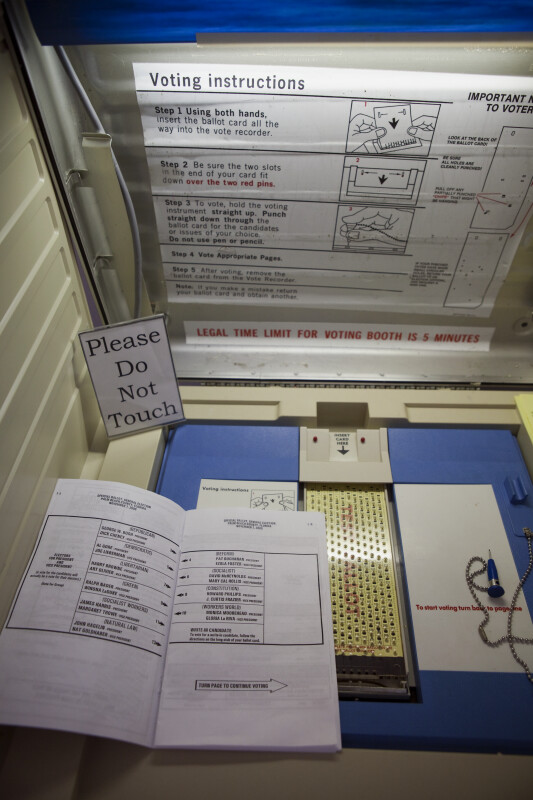2000 Voting Booth