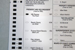 2012 Presidential Election Ballot for Romney and Ryan