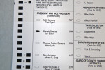 2012 Presidential Election Ballot for Obama and Biden
