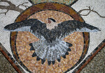A Bald Eagle in a Mosaic
