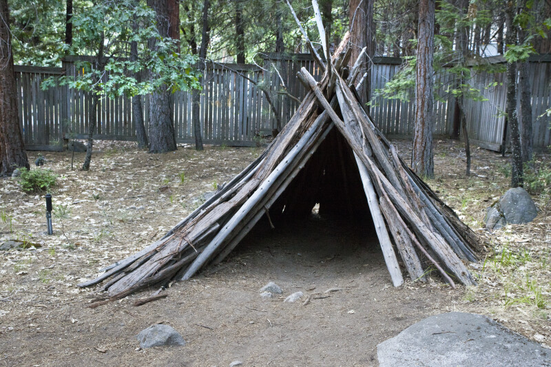 A Bark House in Ahwahnee Village