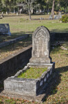 A Bedstead with a Gothic tablet Headstone