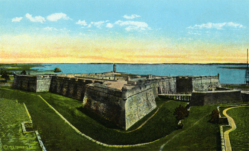 A Birds' Eye View of Fort Marion