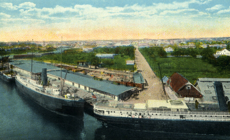 A Birds' Eye View of the Docks