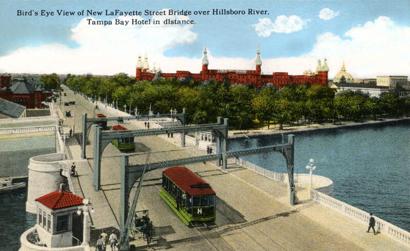 A Birds' Eye View of the New Lafayette Street Bridge over the Hillsboro River