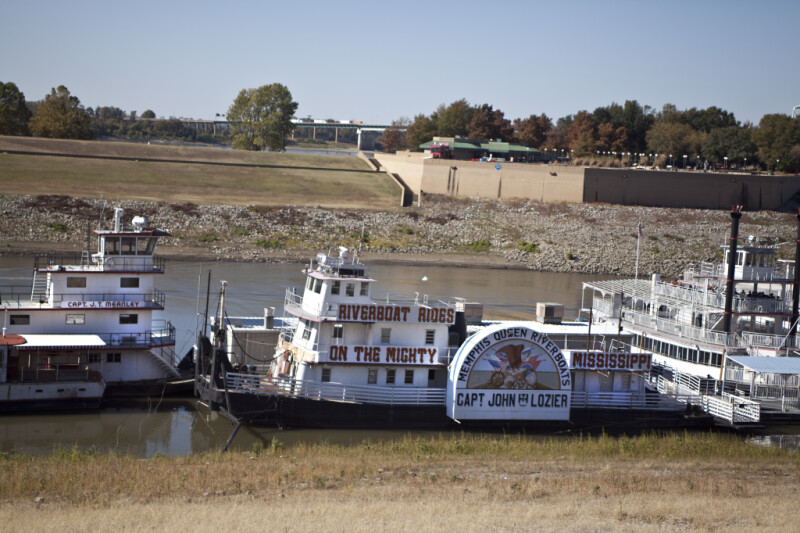 A Boat on the Banks of Wolf River Harbor