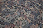 A Brick Pavement with a Circular Pattern