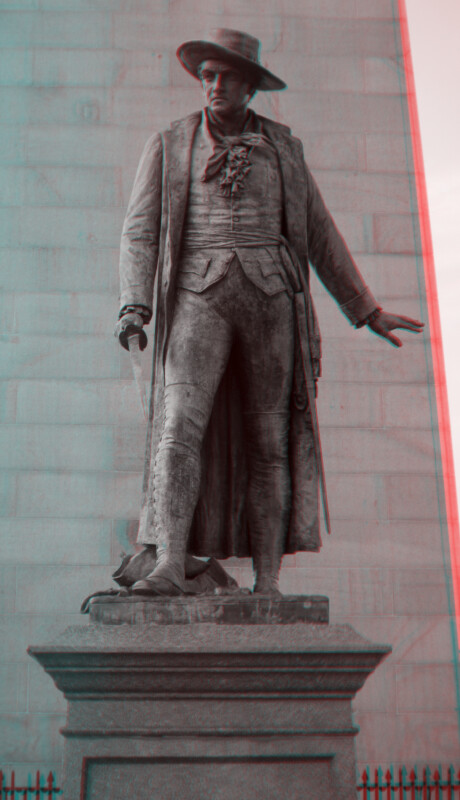 A Bronze Statue of Colonel William Prescott at the Bunker Hill Memorial