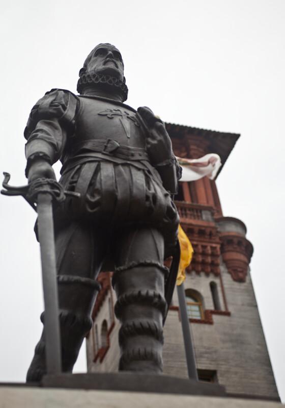 A Bronze Statue of Don Pedro Menendez de Aviles