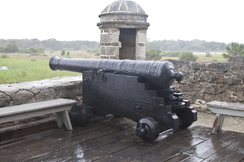 A Cannon near the Sentry Box