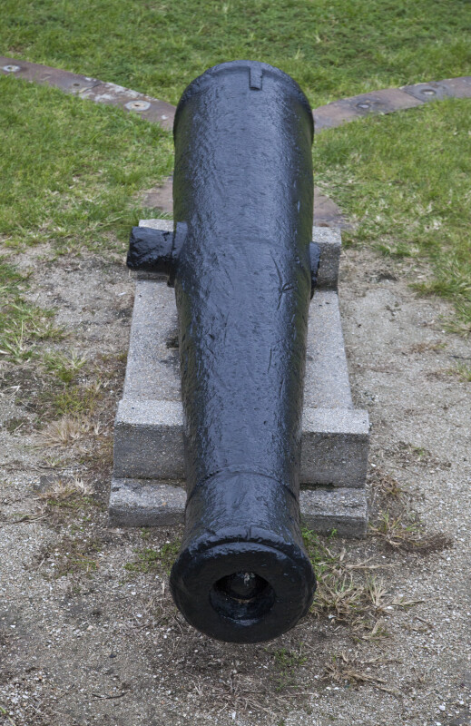 A Cannon on a Stone Block