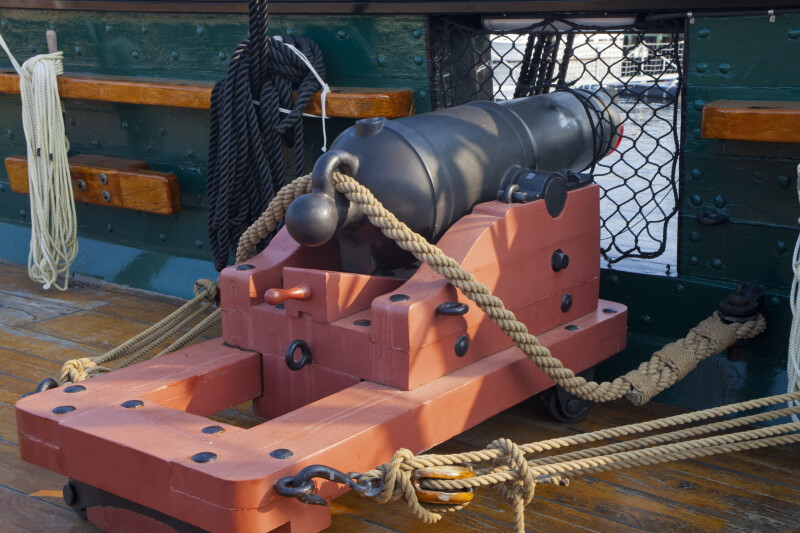 A Cannon on the Deck of the USS Constitution