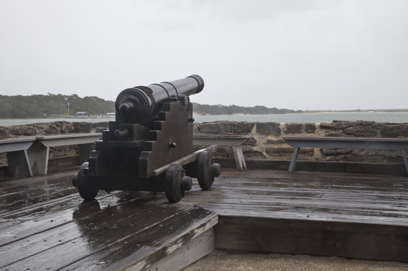 A Cannon on the Gun Deck