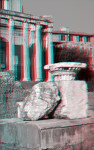 A Capital, in front of the Temple of Antoninus and Faustina