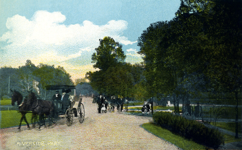 A Carriage Ride, by Riverside Park