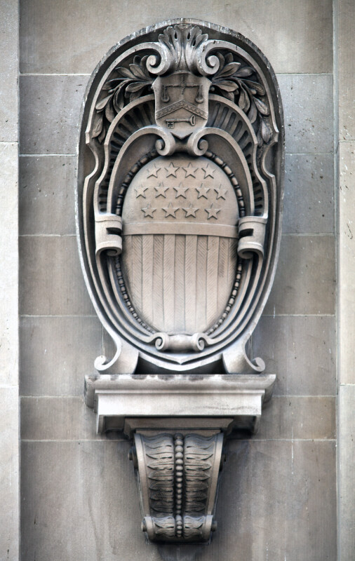 A Cartouche on the Exterior of a Building