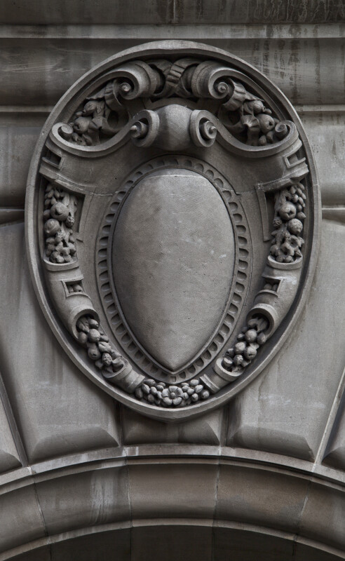 A Cartouche over the Entrance to the Ingraham Building