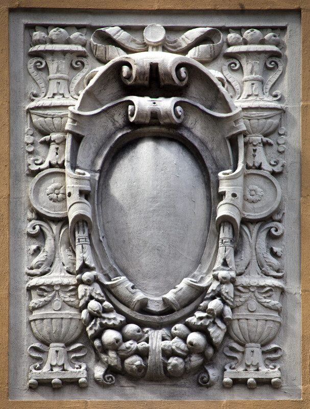 A Cartouche with Grapes and Urns