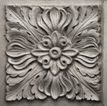 A Carved Panel with a Floral Motif