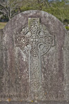 A Celtic Cross on a Headstone