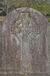 A Celtic Cross on a Headstone