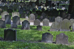 A Cemetery Filled with Shouldered Tablet Headstones