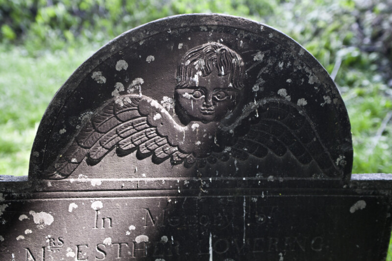 A Cherub, or Soul Effigy, on a Headstone