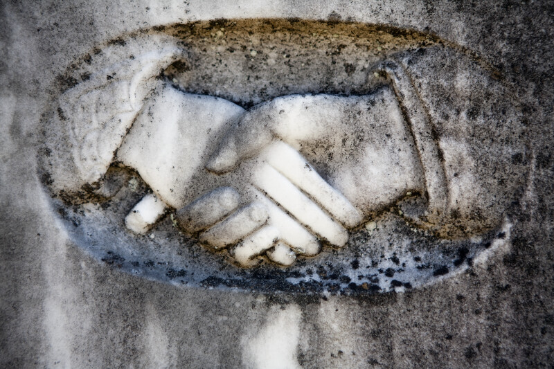 A Clasped Hands Carving