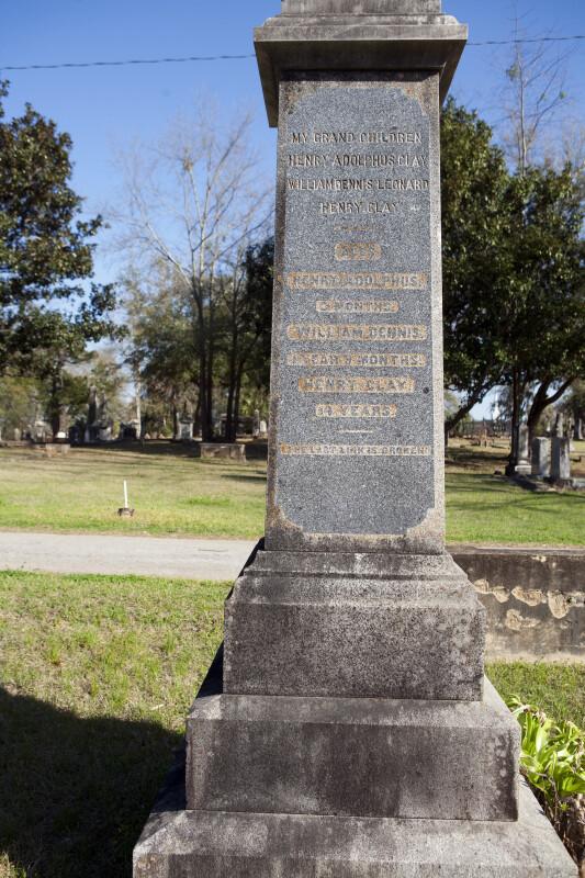 A Clay Family Headstone