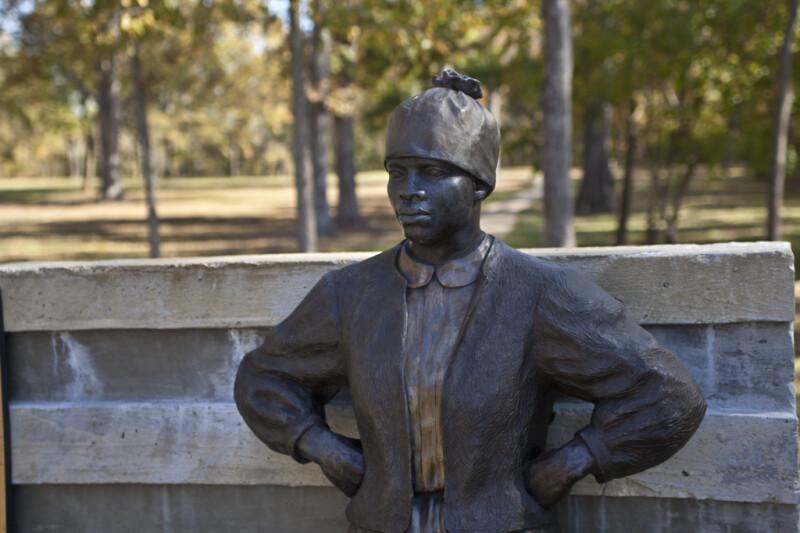 A Close-Up of a Bronze Sculpture