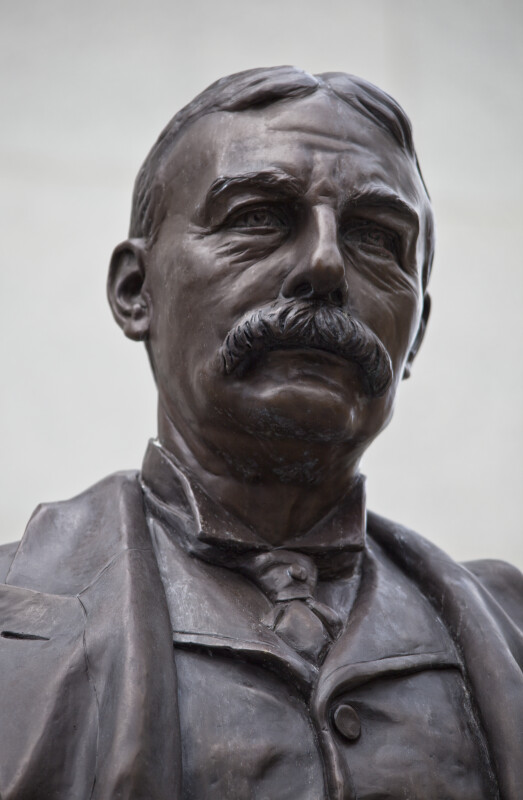 A Close-Up of a Henry M. Flagler Statue