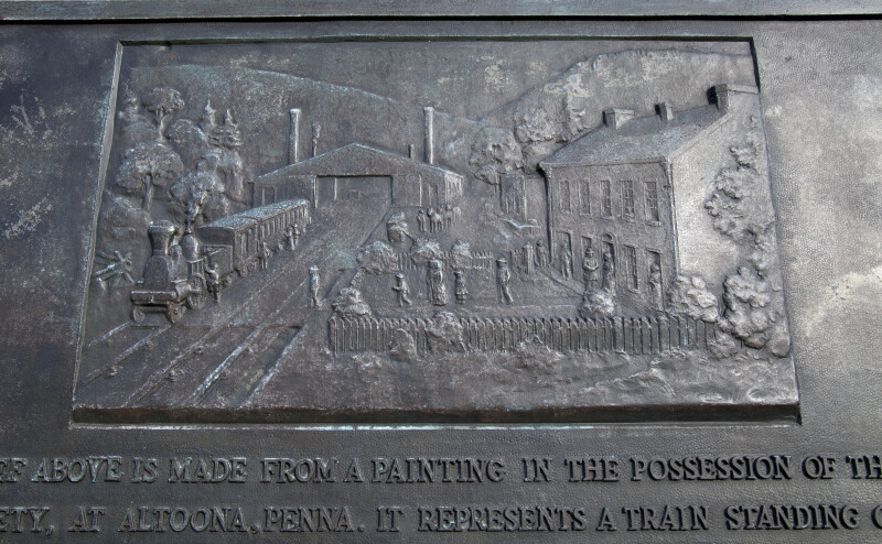 A Close-Up of a Metal Plaque Showing the Lemon House and Engine House Number Six