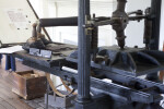 A Close-Up of a Metal Printing Press
