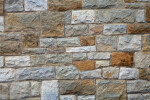 A Close-Up of a Sandstone Wall