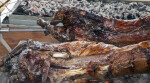 A Close-Up of Spit-Roasted Lamb