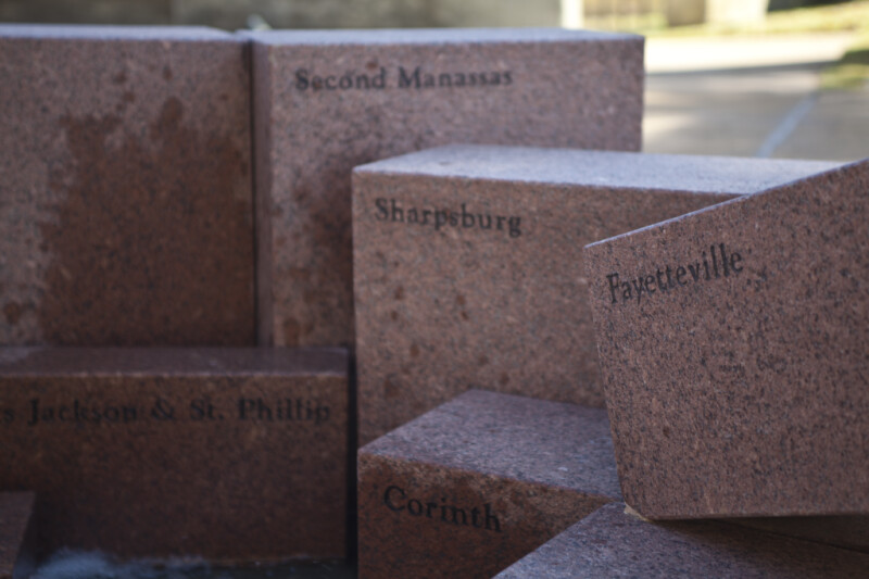 A Close-Up of the Block Representing the Battle of Fayetteville
