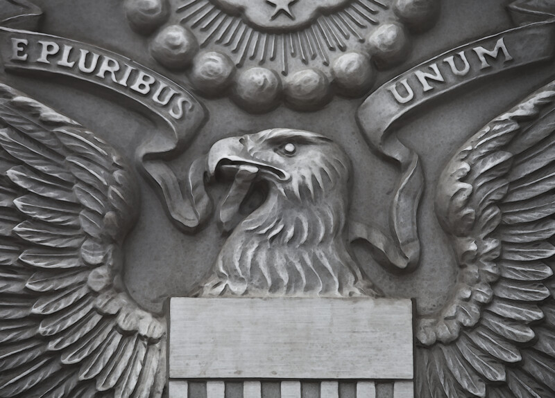 A Close-Up of the Eagle on the Obverse Side of the Great Seal of the United States